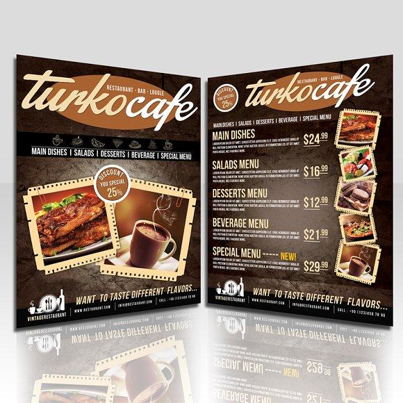 cafe restaurant flyer flyer templates creative market