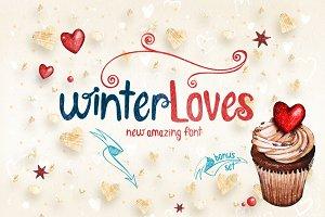 -50% WinterLoves font + bonus
