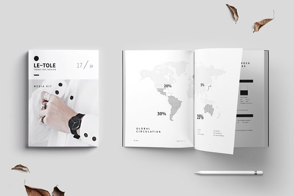 Magazine Media Kit and Identity in Brochure Templates - product preview 1