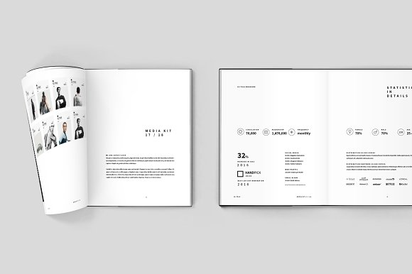 Magazine Media Kit and Identity in Brochure Templates - product preview 2