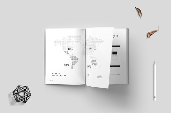 Magazine Media Kit and Identity in Brochure Templates - product preview 3