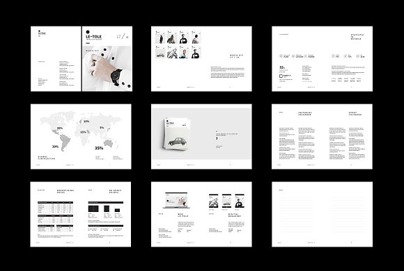 Magazine Media Kit and Identity in Brochure Templates - product preview 7