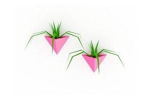 DIY Triangle Planter - 3d papercraft