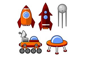 Spaceships Icons Set