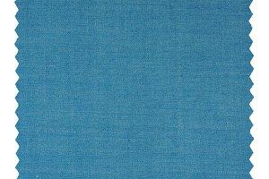Blue Zigzag fabric sample