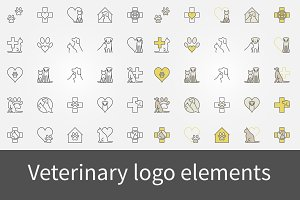 Veterinary logo elements