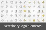 Veterinary logo elements