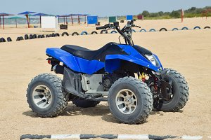 Small ATV rentals. Rental services on the beach by the sea
