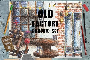 Vintage Factory Graphic Set