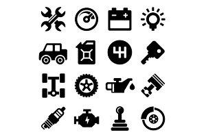 Auto Repair Service Icons