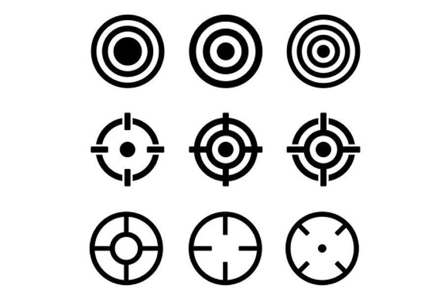 Target Icons Set
