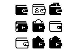 Wallet Icons Set