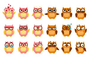 Owl Emoji Collection