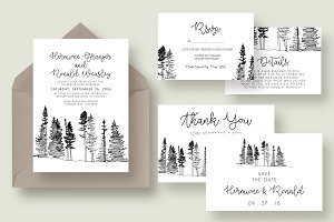 Forest Drawing Wedding Suite