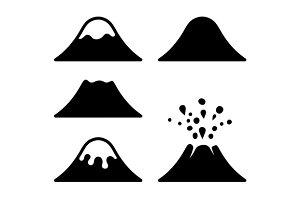 Volcano Icons Set
