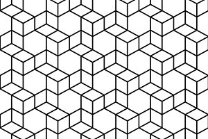 Seamless Geometric Box Pattern