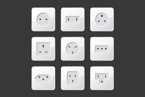 Electric Outlet Sockets Set
