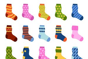 Colorful socks set vector