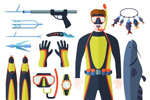 Vector elements for diving
