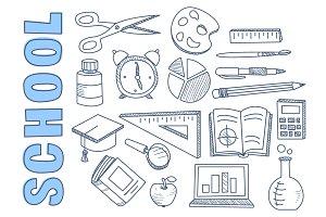 School Hand Drawn Set