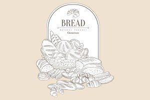 Bread Hand drawn Vector