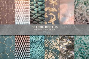 Petrol Depths in Gold & Iridescence