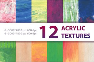 12 ACRYLIC TEXTURES