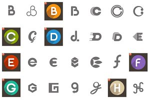 Letters Logo Concept Icon Set