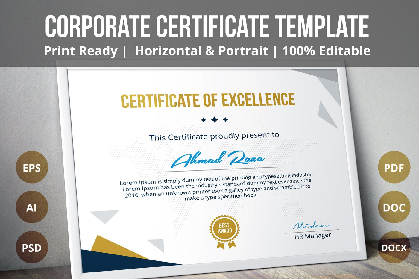 Multipurpose certificate template stationery templates multipurpose certificate template stationery templates creative market xflitez Image collections