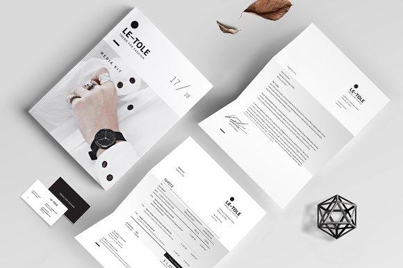 Magazine Media Kit and Identity in Brochure Templates