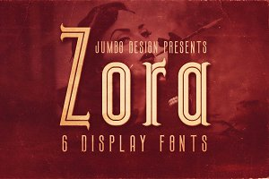 Zora - Vintage Display Font