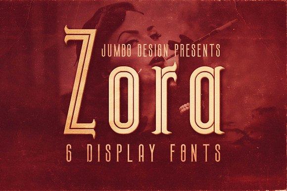 Zora Vintage Display Font