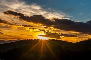 Sunrise mountains