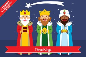 Three Kings Illustrations