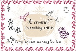 Set of 30 creative journaling cards