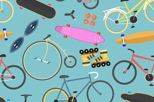 Stylish backdrop with cycles vector
