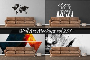 Wall Mockup - Sticker Mockup Vol 237
