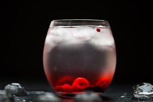 Cold Water Drink with Berries