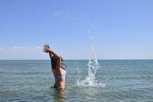She sprinkles in seawater