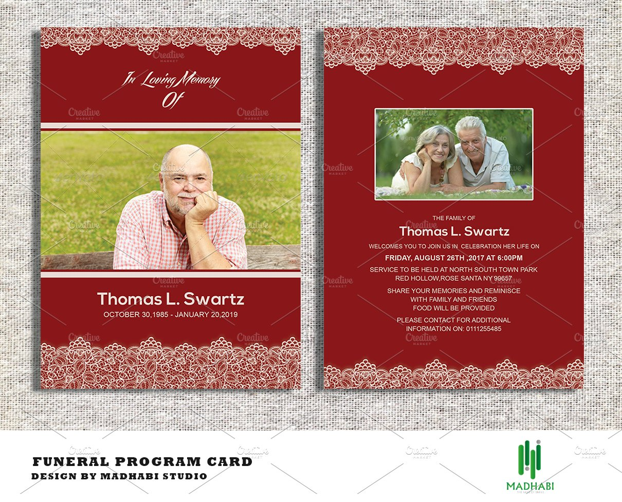 memorial service invitation template – Memorial Service Invitation Template