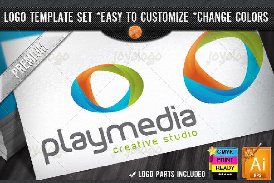 Audio Music Video 3D Play Media Logo