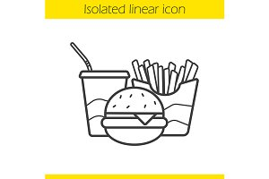 Fastfood linear icon. Vector