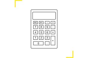 Calculator linear icon. Vector