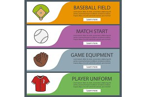 Baseball banner templates. Vector