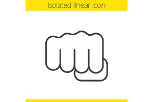 Punch linear icon. Vector