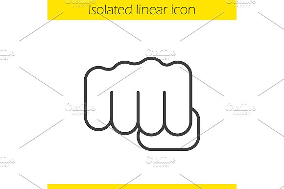 Punch Linear Icon Vector