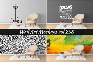Wall Mockup - Sticker Mockup Vol 238