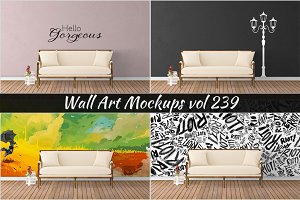 Wall Mockup - Sticker Mockup Vol 239