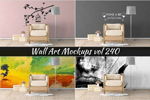 Wall Mockup - Sticker Mockup Vol 240