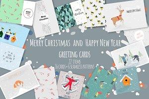 Christmas cards | vector & raster